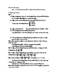 Giáo án Hình học 12 - Tiết 26: Đường thẳng tr