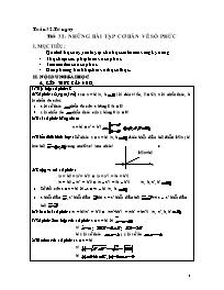 Giáo án Hình học 12 - Tiết 32: Những bài tập