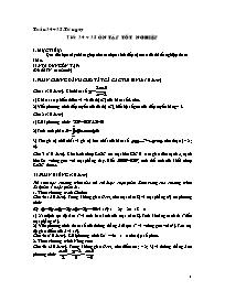 Giáo án Hình học 12 - Tiết 34+35: Ôn tập tốt