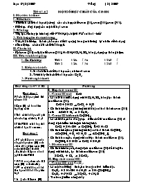 Giáo án Hóa học 12 - Tiết 61+62: Một số hợp c