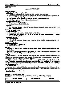 Giáo án Sinh học 10 - Tiết 17, Bài 17: Quang