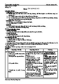Giáo án Sinh học 10 - Tiết 18, Bài 21: Ôn tập