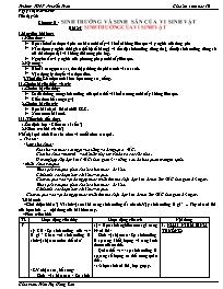 Giáo án Sinh học 10 - Tiết 26, Bài 25: Sinh t