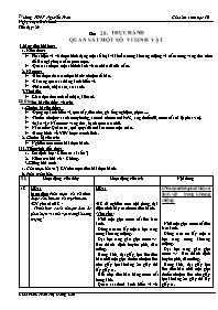 Giáo án Sinh học 10 - Tiết 29, Bài 28: Thực h