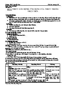 Giáo án Sinh học 10 - Tiết 32, Bài 31: Virut