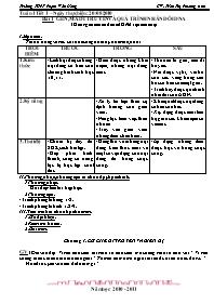 Giáo án Sinh học 12 - Tiết 1, Bài 1: Gen, mã