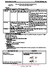 Giáo án Sinh học 12 - Tiết 12, Bài 12: Di tru