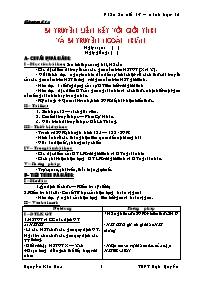 Giáo án Sinh học 12 - Tiết 13: Di truyền liên