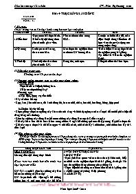 Giáo án Sinh học 12 - Tiết 14, Bài 14: Thực h