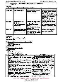 Giáo án Sinh học 12 - Tiết 15, Bài 15: Bài tậ
