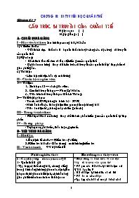 Giáo án Sinh học 12 - Tiết 17: Cấu trúc di tr