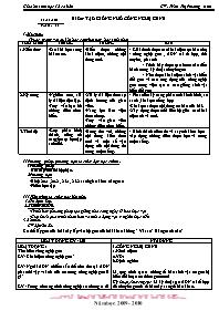 Giáo án Sinh học 12 - Tiết 21, Bài 20: Tạo gi