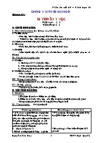 Giáo án Sinh học 12 - Tiết 23: Di truyền y họ
