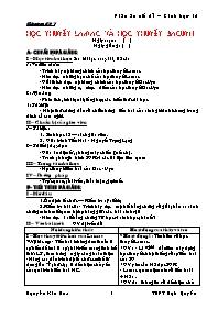 Giáo án Sinh học 12 - Tiết 27: Học thuyết Lam