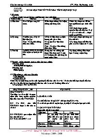 Giáo án Sinh học 12 - Tiết 28, Bài 26: Học th