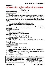 Giáo án Sinh học 12 - Tiết 29: Quá trình hình