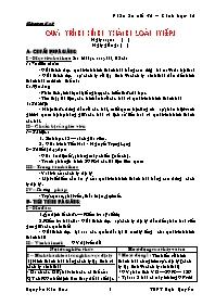 Giáo án Sinh học 12 - Tiết 32: Quá trình hình