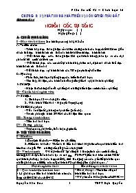 Giáo án Sinh học 12 - Tiết 34: Nguồn gốc sự s