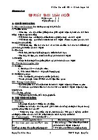Giáo án Sinh học 12 - Tiết 36: Sự phát sinh l