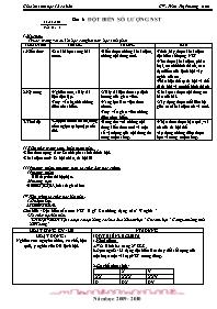 Giáo án Sinh học 12 - Tiết 6, Bài 6: Đột biến
