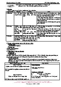Giáo án Sinh học 12 - Tiết 9, Bài 9: Quy luật