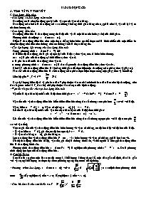 Lý thuyết Vật lý 12 - Chương 2: Dao động cơ