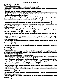 Lý thuyết Vật lý 12 - Chương 3: Sóng cơ và só