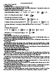 Lý thuyết Vật lý 12 - Chương 4: Dao động điện