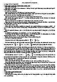 Lý thuyết Vật lý 12 - Chương 7: Lượng tử ánh