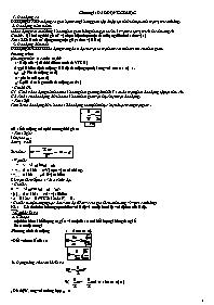 Tài liệu ôn thi tốt nghiệp Vật lý 12 - Chương