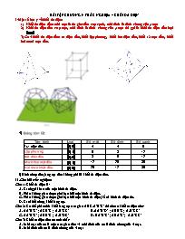Bài tập trắc nghiệm Hình học 12 - Chương I: K
