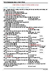 Bài tập trắc nghiệm Hóa học 12 - Phần vô cơ