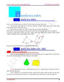 Chuyên đề bài tập Hình học Lớp 12 - Lương Đoà