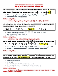Chuyên đề Hình học 12: Đường thẳng. Mặt phẳng
