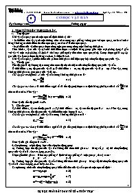Đề cương ôn tập môn Vật lý Lớp 12 - Cơ học vậ