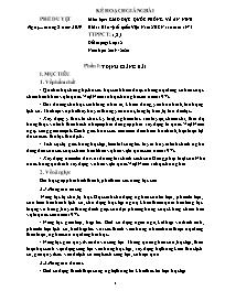 Giáo án Giáo dục Quốc phòng và An ninh 12 - Bài 1: Bảo vệ tổ quốc Việt Nam XHCN sau năm 1975 - Năm học 2019-2020 - Triệu Hoàng Quân