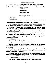 Giáo án Giáo dục Quốc phòng và An ninh 12 - Bài 2: Tổ chức Quân đội nhân dân Việt Nam và công an nhân dân Việt Nam - Năm học 2019-2020 - Triệu Hoàng Quân