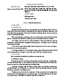 Giáo án Giáo dục Quốc phòng và An ninh 12 - Bài 4: Một số hiểu biết về chiến lược diễn biến hòa bình, bạo loạn lật đổ của các thế lực thù địch đối với cách mạng Việt Nam - Năm học 2019-2020 - Triệu Hoàng Quân