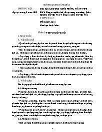 Giáo án Giáo dục Quốc phòng và An ninh - Bài 3: Công tác tuyển sinh, đào tạo trong các trường Quân đội nhân dân Việt Nam và Công an nhân dân Việt Nam - Năm học 2019-2020 - Triệu Hoàng Quân