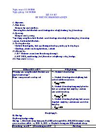 Giáo án Hình học Lớp 12 - Tiết 31: Thể tíc