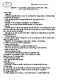 Giáo án Lịch sử 12 - Bài 3: Các nước Đông Bắc Á