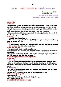 Giáo án Ngữ văn 12 - Chủ đề: Chiếc thuyền ngo