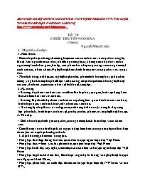 Giáo án Ngữ văn 12 - Tiết 70: Chiếc thuyền n