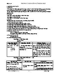 Giáo án Ngữ văn Khối 12 - Tiết 13+14: Phong c