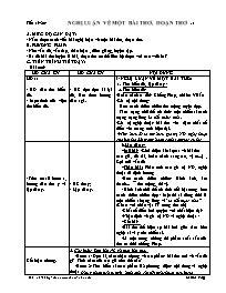 Giáo án Ngữ văn Khối 12 - Tiết 19+20: Nghị lu