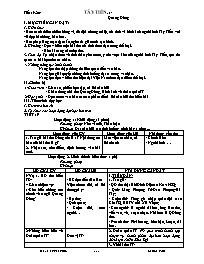 Giáo án Ngữ văn Khối 12 - Tiết 19+20: Tây Tiế