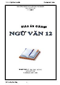 Giáo án Ngữ văn Lớp 12 (Cơ bản) - Chương trìn