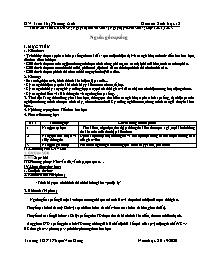 Giáo án Sinh học Lớp 12 - Chương trình học kỳ