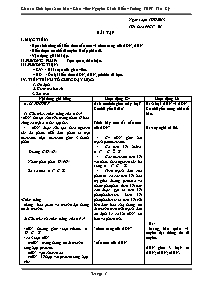 Giáo án Sinh học Lớp 12 (Cơ bản) - Chương trì