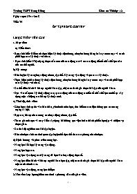 Giáo án Thể dục Lớp 12 - Tiết 35: Ôn tập bóng